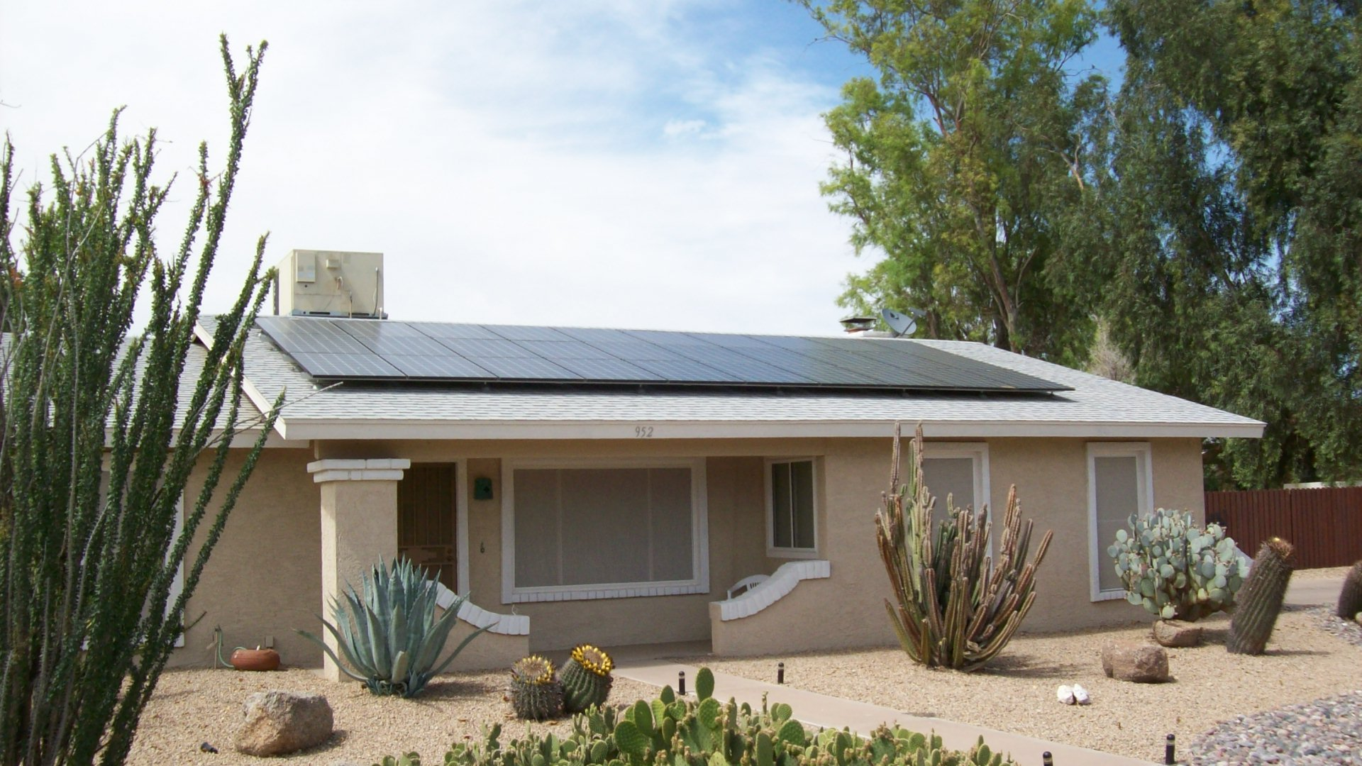 Front roof solar