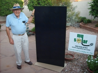 Bill first SunPower panel